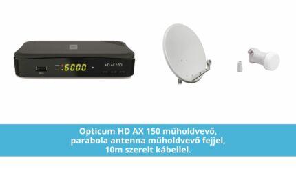Műholdvevő csomag - Alcor HD beltéri egység, antenna, LNB és kábel együtt
