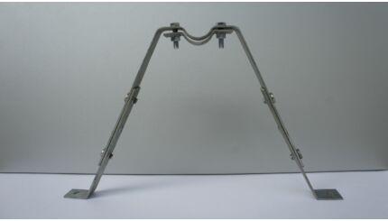 Antenna árbóccső eltartó trapéz konzol - 30 cm