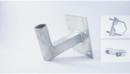 Antennatartó konzol (falra, korlátra, balkonra, csőre) - 10cm