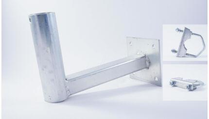 Antennatartó konzol (falra, korlátra, balkonra, csőre) - 20cm