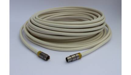 Szerelt koax kábel (1db F-csatlakozóval és 1db koax dugóval) - 10m / 20m / 30m / 40m / 50m