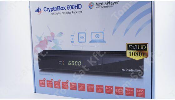 AB CryptoBox 600HD műholdvevő (DVB-S) és IPTV vevő és rögzítő