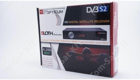 OPTICUM Sloth Classic Plus DVB-S/S2 műhold és IPTV vevő és rögzítő