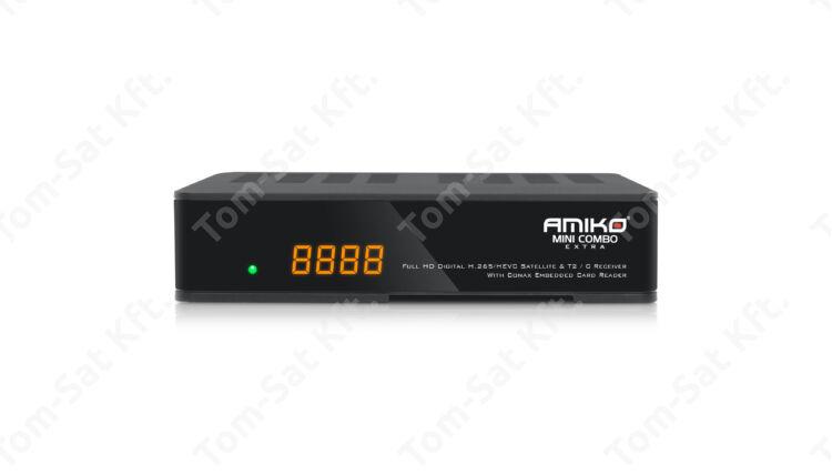 Amiko Mini Combo Extra MinDig TV vevő, műholdvevő (DVB-S) és kábeltévé (DVB-C) vevő és rögzítő