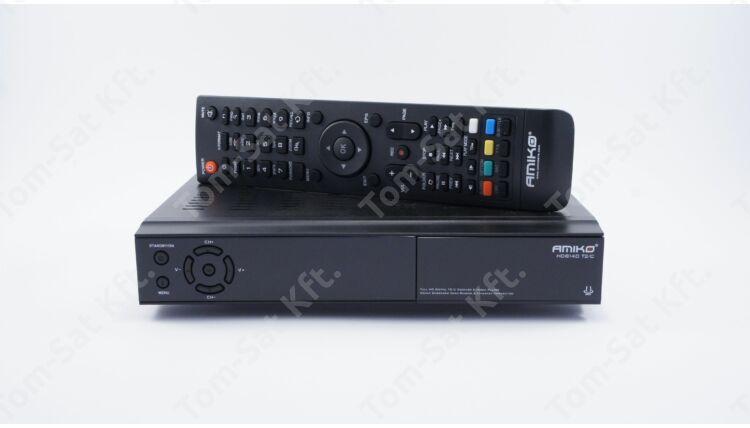 Amiko HD 8275+ T2/C földi digitális (DVB-T HEV-265) és kábeltévé (DVB-C) vevő és rögzítő