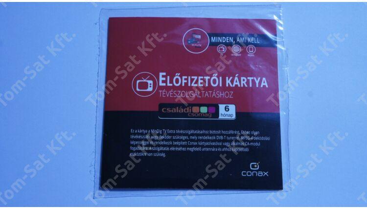 MinDig TV Extra Családi csomag előfizetői kártya (12 hónapos)