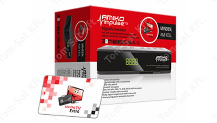 MinDig TV Extra Alapcsomag Amiko Impulse MinDig TV vevő dekóderrel (6 hónapos előre fizetett csomag)