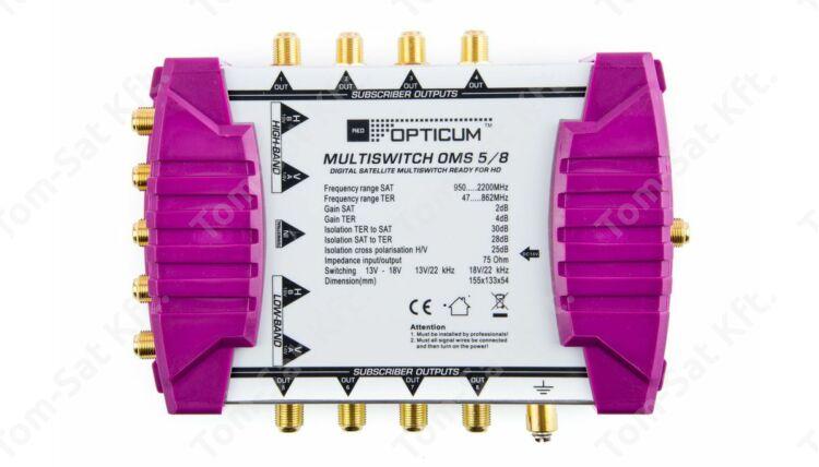 OPTICUM OMS 5/8 P multiswitch elosztó műholdvevőkhöz