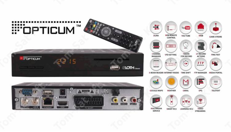 OPTICUM Sloth Classic műhold- és IPTV vevő és rögzítő