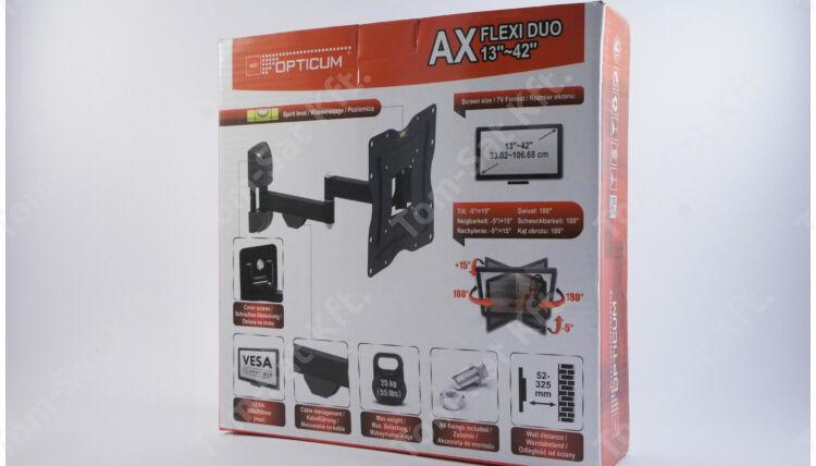 OPTICUM AX FLEXI DUO 13-42 col dönthető csuklós fali TV tartó konzol