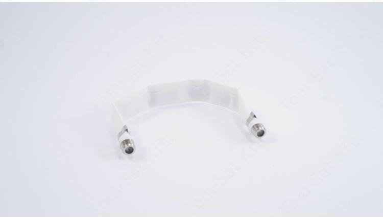 Ablak átvezető lapos koax kábel F-csatlakozóval - 20 cm
