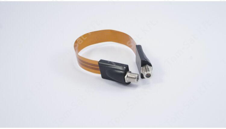 Ablak átvezető lapos koax kábel F-csatlakozóval - 25 cm