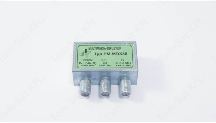 Para-Mega PM-MDX88 multimédia diplexer (Internet - Kábeltévé szétválasztó)