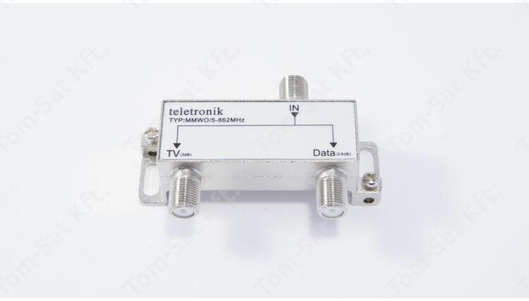 Teletronik MMWO/5-862MHz multimédia diplexer (Internet - Kábeltévé szétválasztó)