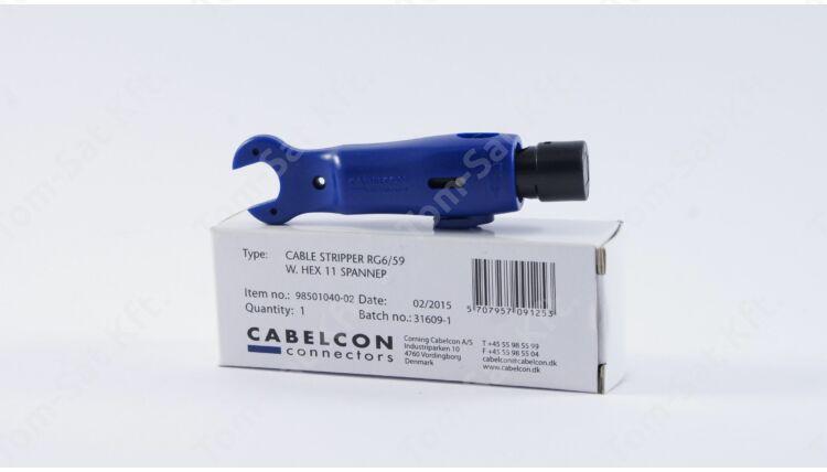 Cabelcon RG6/RG59 koax blankoló/F-csatlakozó behajtó kulcs