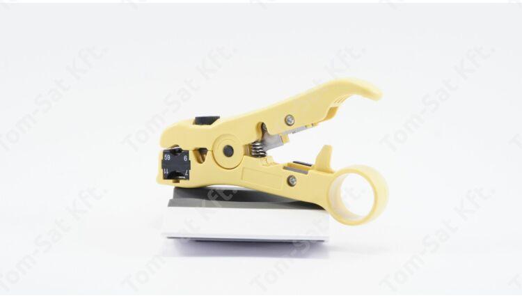 Blankoló fogó koax (RG 6-7-11-59) és telefonkábelhez