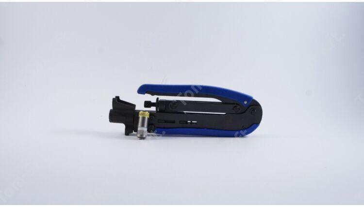 Kompressziós fogó RG-59/RG-6/RG-11 kábel csatlakozókhoz